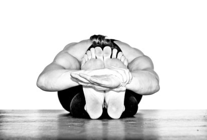 Paschimottanasana, great western pose, seated forward fold
