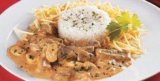 Receita Vegetariana | Strogonoff de Soja e Cogumelos