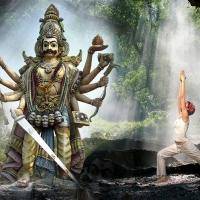 A história do Guerreiro do Yoga, Virabhadra