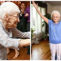 Senhora de 87 anos se transforma com a prática de Yoga